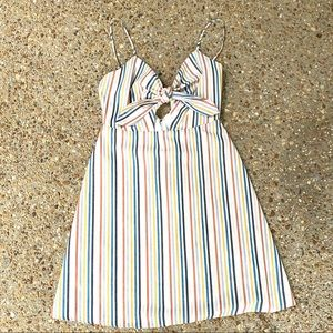 Like New Altar'd State Striped Lined Tie Dress S